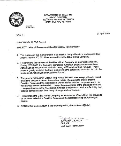 Commanding Officer Endorsement Letter Example